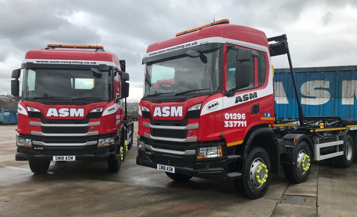 2018 trucks at ASM Metal Recycling HQ in Aylesbury