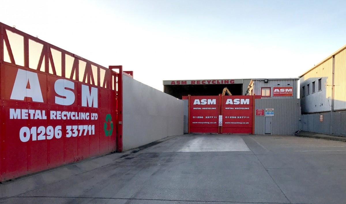 ASM Metal Recycling entrance in Aylesbury