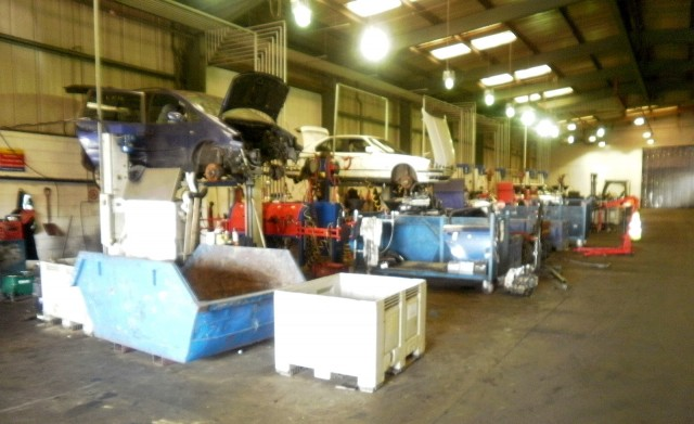 Vehicle recycling depot