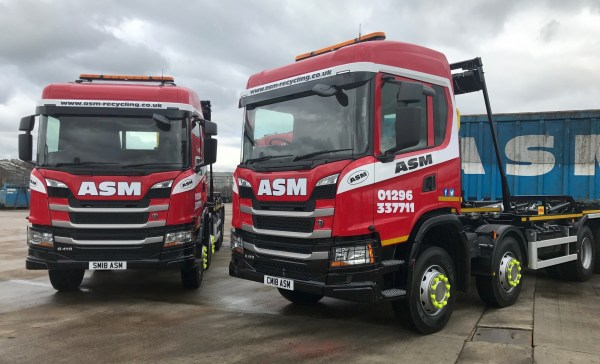 2018 trucks at ASM Metal Recycling HQ in Aylesbury