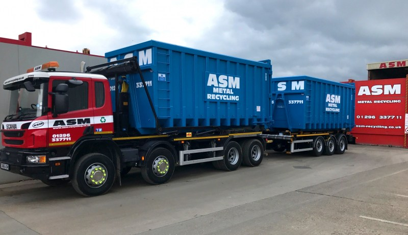 Scrap metal collection vehicle at ASM